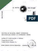flutter of rectangular panel supersonic nasa report.pdf
