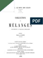 Melanges J.F.E LE BOYS DES GUAYS T IV