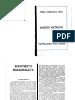 Manifiesto Nacionalista Del FNPL