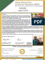 IEFT Newsletter August 2009