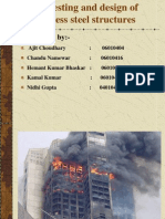 Fire Testing and Design of Stainless Steel Structure