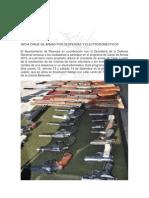 11-12-2013 'INICIA CANJE DE ARMAS POR DESPENSAS Y ELECTRODOMÉSTICOS'