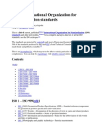 List of International Organization for Standardization Standards