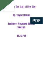 Taylor Marino TDD Final Draft