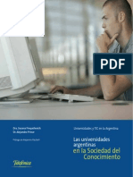 Finquelievich S.- Las Univ Argentinas en La Soc Del Conocimiento