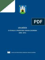 Izvjesce o Stanju u Prostoru Grada Zagreba 2008-2012  Urban report Zagreb  2008 - 2012