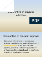 CLAUSULAS ADJETIVAS