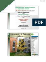 EXPOSICIÓN-INCINERACIÓN - PIRÓLISIS-UNALM-2013-Dr MEZA