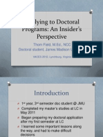 Applying Doctoral VACES12