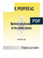 Machines and Processes for the Cement Industry