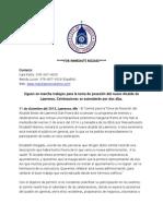 12-11-13 Inauguration Press Release SPANISH