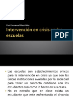 Intervención en crisis en las escuelas