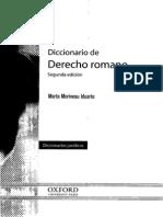 Diccionario de Derecho Romano - Marta Morineau Iduarte