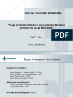 Presentación Incidente Ambiental - Goteo de aceite hidraulico 21.03.13