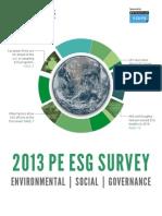 2013 PE ESG Survey
