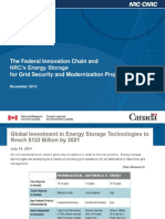 The Federal Innovation Chain and NRC's Energy  Storage for Grid Security and Modernization Program