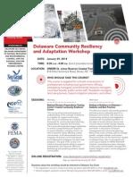 delaware community resiliency workshop flyer