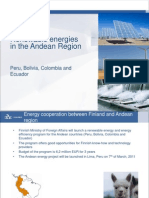 Renewable Energies in the Andean Countries