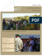Fall Issue of the Dirt 2013
