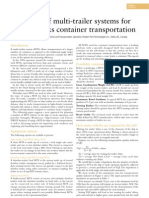 Efficiency of multi-trailer systems for ship to stacks container transportation