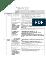 Instructiuni Pentru Completarea Fisei de Autoevaluare Cadre Didactice -2013