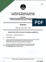 SEJARAH PMRtrial 2009 Kedah 1-8