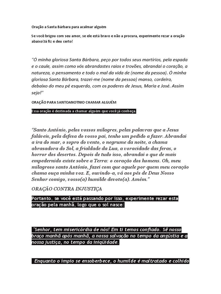 Amado Oração a Santa Bárbara para acalmar alguém NY69