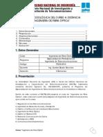 Guía Metodológica del Curso de Ingeniería de Fibra Optica
