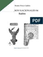 Pérez Galdós, Benito - EN04 - Bailén=