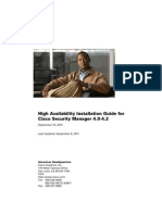 High Availability Installation Guide for Cisco Security Manager 4.0-4.2