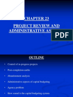Chapter 23 Project Review and Administrative Aspects