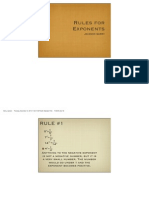 rules for exponets pff