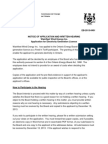 Wainfleet Wind Energy Inc. Application for Electricity Generation Licence