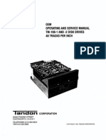 TM100-1 -2 OEM Operating and Service Manual 48TPI 1981