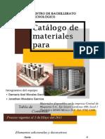 Catálogo de materiales