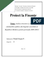 Proiect Finante, Moldova Cheltuieli 2009-2011