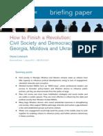 How to Finish a Revolution Georgia Moldova Ukraine