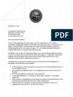 Letter to Commissioner Dohman about cellular exploitation equipment use by the Department of Public Safety