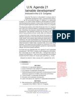 UN Agenda 21 Debbie Niwa 2012 265pgs GOV POL