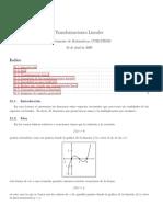 Transformaciones Lineales Depto Matematicas