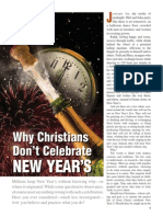 Why Christians Dont Celebrate New Years