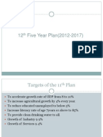 12th Five Year Plan(2012-2017)