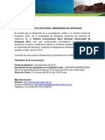 CONVOCATORIA - BECAS DOCTORALES