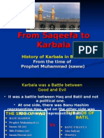 From Saqeefa to Karbala