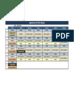 Calendario Ingeniería de Fibra Óptica