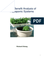 Cost Benefit Analysis of Aqua Ponic Systems