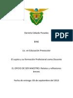 1 4 el oficio de ser maestro