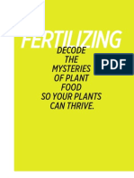 Fertilizing basics for the home gardener