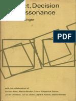 Leon Festinger Conflict, Decision, And Dissonance 1964