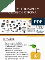 Consumo de Papel y Utiles de Oficina